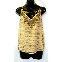 Urban Outfitters Ecote Sequin Layered  Racerback Tank Blouse Womens Size M