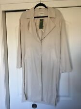H And M Conscious Light Trench Coat Wind Breaker Sz6