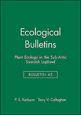 Plant Ecology Swedish Lapland (Ecological Bulletins), Karlsson & Callaghan, Used