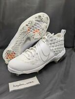 Nike Force Zoom Trout 6 Baseball Cleats White/White/White Men's Size 11.5 AT3464