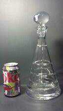 "Beautiful Vintage Slovakia Crystal Glass Decanter 12.5"" Sleek Modern Horizontal"