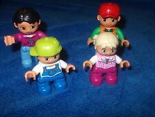 Lego Duplo Ville Familie Mama Papa Mädchen Zöpfe Kind Figur Männchen Pink Blond