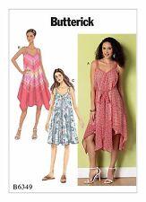Butterick Sewing Pattern B6349 Plus SZ 16-26 Womens Dress Handkerchief Hem VNeck