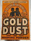Vintage box of Fairbank's Gold Dust washing powder. Unopened.