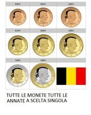 BELGIO BELGIUM BELGIC TUTTE LE ANNATE E MONETE SINGOLE FDC SPL MB BB  1999/2020