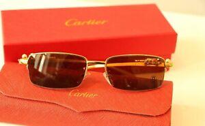 Cartier Sunglasses brown jaguar sunglasses half rim