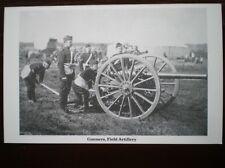 POSTCARD FIELD ARTILLERY - GUNNERS