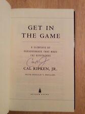 SIGNED by Cal Ripken Jr - Get In the Game HC 1st/1st + Pic Orioles #8 MLB HOF