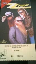 ancien billet de concert  ZZ TOP Septembre 1986 zenith   N°04205