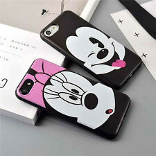 Disney Cartoon Mickey Minnie Soft Back Cover Phone Case For iPhone 6 6s 7 8 Plus