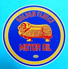 """GOLDEN FLEECE LOGO"" PROMO VINYL STICKER DECAL PETROL OIL GAS SERVICE STATION"