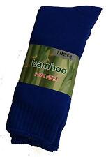 3 PRS MENS SZ 6-11 ROYAL BLUE EXTRA THICK HEAVY DUTY BAMBOO WORK SOX