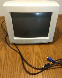 Vintage IBM 15 MS CRT Monitor From 1993 Great Scan Lines For Classic Gaming