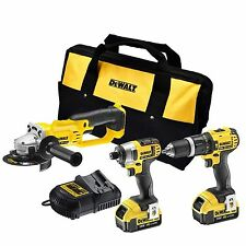 DEWALT 18V 3PC CORDLESS COMBO KIT WITH 2 X 4.0Ah BATTERIES AND CHARGE PLUS BAG