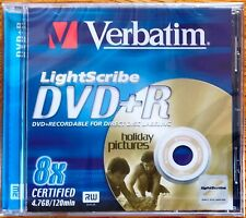 Neues Angebot4 Stück VERBATIM LightScribe DVD+R - 1-8x - 120min - 4.7GB - Jewelcase - NEU&OVP