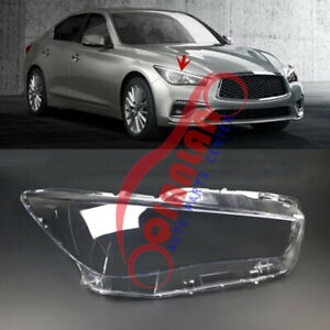 For Infiniti Q50 2014-2021 Right Side Headlight Lens Cover +Sealant Glue Replace