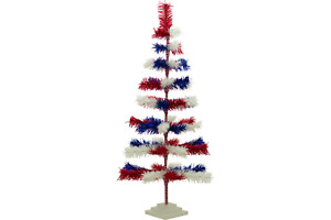 Artificial Tinsel Christmas Trees Decorative Display Table-Top Multi Colors