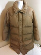 VTG Eddie Bauer Down Fill Parka Stadium Western Puffer Long Jacket Brown Medium