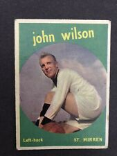 A&BC Gum JOHN WILSON ST MIRREN NO. 41 BLACK BACK 1961 **ERROR CARD** White Bio !
