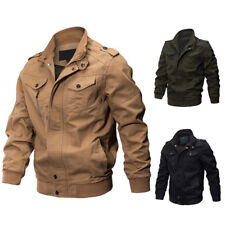 FX- Men's Military Army Pilot Bomber Jacket Long Sleeve Tactical Coat Outwear Be