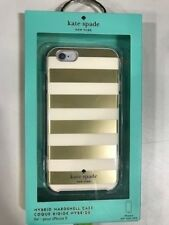 Authentic Kate Spade Hybrid Hardshell Cover Case iPhone 6 6S Gold stripes