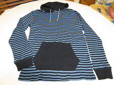 Mens Volcom stone hoody long sleeve shirt Hoodie L Vader Thermal navy blue strp