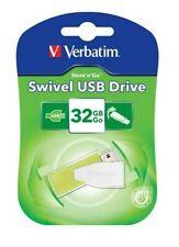 Verbatim Store et Go Pivotant 32GB USB 2.0 Flash Clef USB Mémoire Lecteur - Vert