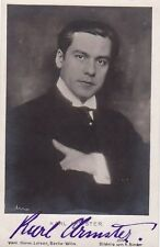 KARL ARMSTER opera baritone signed photo, Berlin January 1919