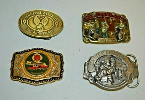 LOT of 4 Belt Buckles The American Firefighter No Sleep Tonight