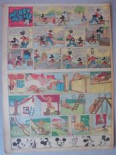 Mickey Mouse Sunday Page by Walt Disney from 7/16/1939 Tabloid Page Size