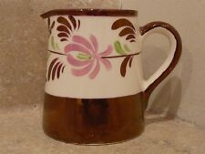 COPPER LUSTER GRAY'S POTTERY CREAM PITCHER CREAMER SUGAR BOWL PINK GREEN