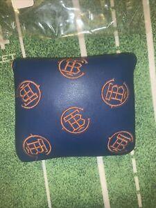 The Buck Club Golf TBC Dancing Logo Navy & Orange Mallet Cover