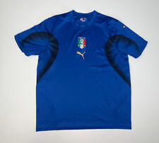 Puma Italy Soccer Blue Jersey Shirt Size Adult Large Italia FIGC
