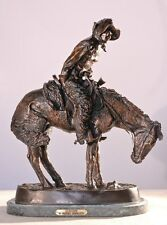 "9""H ""Norther"" Solid Lost Wax Bronze Statue by Frederic Remington Mini"