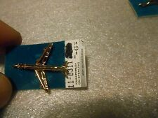 Airplane Charm New Old Stock Gold Plated Sterling Silver 707 Jet