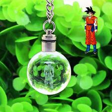Dragon Son Goku 3D LED Boule de Cristal avec Porte-clés Veilleuse lampe Cadeau