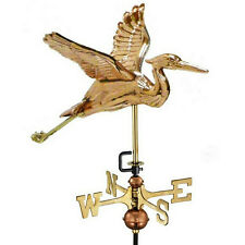 Good Directions Blue Heron Weathervane Polished Copper w/Garden Pole 8805Pg