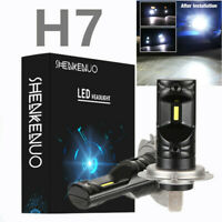 2X H7 Super Bright White LED Bulbs 6000K 80W Lamp for BMW E46 Fog Light DRL