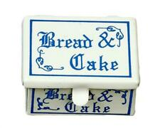 Dolls House Blue & White Cake Tin Bread Bin Box Miniature 1:12 Kitchen Accessory