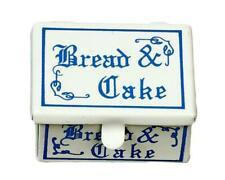 Dolls House Blue & White Cake Tin Bread Bin Box Miniature 1:12 Kitchen Accessory
