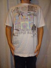 Jimi Hendrix Purple Haze Stone Free White T-shirt Size XL