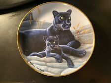 Black Panther And Cub Frankin Mint