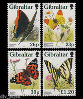 Butterflies of Gibraltar set of 4 mnh stamps 1997