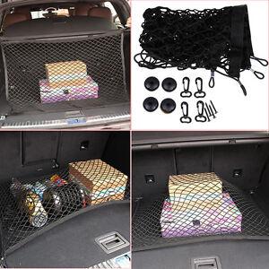 Car Auto Rear Trunk Fixed Cargo Net Sundries Storage Bag Elastic Net Bag 4 Loops