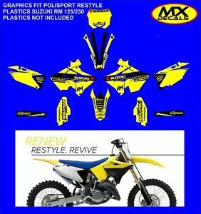 suzuki-rm125/250 Restyle Graphics kit 2001-2008