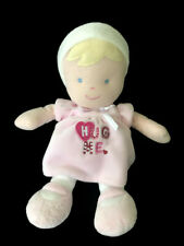 Just One Year Hug Me Doll Plush Baby Toy Lovey Pink Blonde Hair