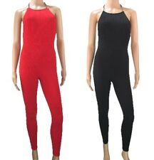 b80ac439949 New Jane Norman Red Black Verticle Ribbed Bodycon Jumpsuit Playsuit Chain  Neck