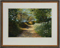Pauline Harries - Framed 2002 Watercolour, Summer Path