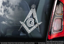 Freemasons - Car Window Sticker - Stonemasons Masonic Symbol Sign Logo -TYP1