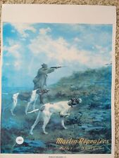 Marlin Firearms Advertising Poster,Dogs on Point